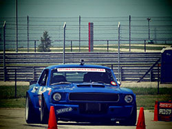 Mike Maier driving his 1966 Mustang in the speed stop challenge