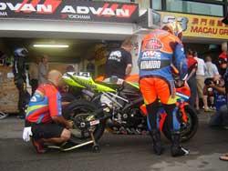 Millennium/KWS Suzuki at Macau GP