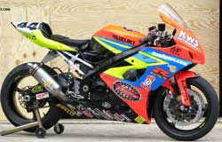 Suzuki GSX-R1000 Superbike equipped with K&N