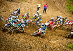 After the gates dropped for the first Lucas Oil/AMA Pro MX Series moto at Budds Creek Alex Martin nearly grabbed the holeshot on his K&N equipped Yamaha YZF250