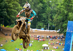 The rain continued and only made the Budds Creek MX track more difficult for 250 Moto #2