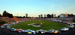 NASCAR K&N Pro Series East race at Bowman Gray Stadium in North Carolina