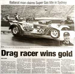 Local news article about the amazing win for Matt Forbes