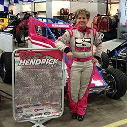 Shannon McQueen Kara Hendrick Tribute car 2016 Chili Bowl Midget Nationals