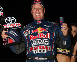 Ricky Johnson, driving the Red Bull Menzies Motorsports Pro-4 truck, had back to back third place podium finishes in Lucas Oil Off-Road Racing rounds 11 and 12 in Sparks, Nevada