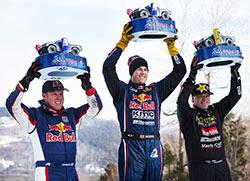 2016 Red Bull Frozen Rush Podium Bryze Menzies, Ricky Johnson, Rob MacCachren