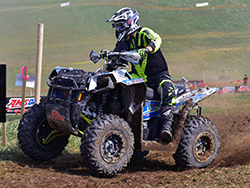 Mike Swift and fellow UXC/Polaris Factory Racing rider Kevin Trantham started the GNCC round 7 Pro 4x4 race 4th and 5th off the line