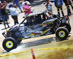 >Leaving the 2015 Baja 500 starting line at 1 PM, Jason Murray took on driver's duties for the first half of the 510 mile race