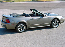 "Ford updated the Mustang's exterior styling in 1999 using the Ford ""New Edge"" design"