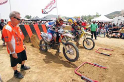 The X-Climb featured motocross-style starting gate.