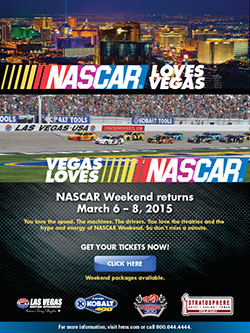 The NASCAR Sprint Cup Series returns to Las Vegas Motor Speedway March 6-8, 2015