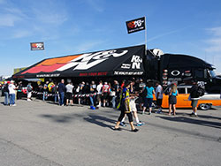 Visit the K&N truck and trailer at Las Vegas Motor Speedway to enter the K&N NHRA Horsepower Challenge