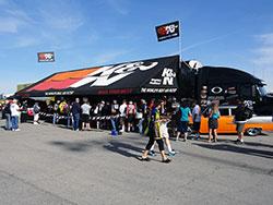 Visit the K&N truck and trailer at Las Vegas Motor Speedway to enter the K&N NHRA Horsepower Challenge