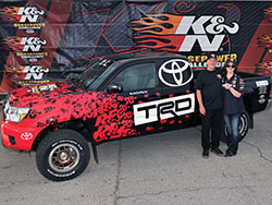 Sweepstakes finalist Annie Perkins was the winner of the Grand Prize 2014 K&N Horsepower Challenge