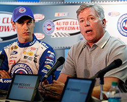 K&N Engineering, Inc. CEO Tom McGann was on site during the entitlement sponsorship extension announcement along with notable Pro Series alumni Joey Logano