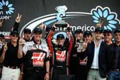 Cole Custer Celebrating the NASCAR K&N Pro Series East Victory with the Haas Automation Chevrolet Team