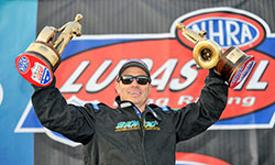 K&N sponsored NHRA drag racer Peter Biondo is the reigning NHRA Super Stock Champion