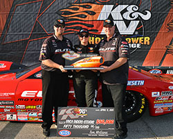 Enders-Stevens had a well-rounded weekend, doubling up on victories by winning the SummitRacing.com Nationals
