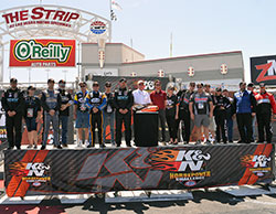 2015 NHRA K&N Horsepower Challenge was officially underway following an on-track ceremony presenting the Horsepower Challenge drivers and sweepstakes finalists