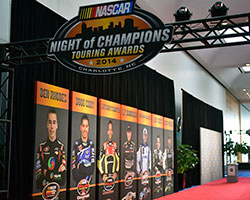 NASCAR K&N Pro Series champions Ben Rhodes and Greg Pursley honored at Touring Series Night of Champions
