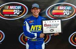 NASCAR K&N Pro Series West Iowa Speedway pole winner Brennan Newberry.