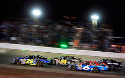 K&N Pro Series racer Greg Pursley leads the pack at Colorado National Speedway.