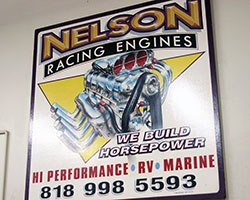 Walking into the Nelson Racing Engines shop in Chatsworth, California is like a step back in time, as well as leaping into the future, where old school machinery meets computer technology