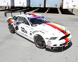 The K&N NASA American Iron Ford Mustang RTR race car was built in-house by the K&N crew and is wrapped in bold K&N graphics