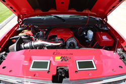 Navarrete uses K&N High-flow air intake system and wrench-off oil filters on his 2008 Chevrolet Silverado RST Edition