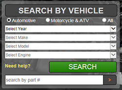 Find K&N product with Search by Vehicle tool