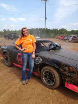 After an engine overhaul on the borrowed Camaro and a new hot pink and black paint job, Nikki was ready to race.