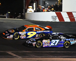Dustin Ash managed to get by Ryan Partridge and crossed the line third; Ryan Partridge, who led a race-high 87 laps, came in fourth with Nicole Behar rounding out the top-five