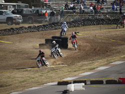 A tight chicane on the short course