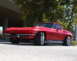 Jane Thurmond races her 1964 Chevrolet Corvette nicknamed Scarlett, which she and her husband originally built as a show car, before it morphed into a highly competitive street & track car
