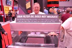 K&N's Oil Migration Stand at SEMA