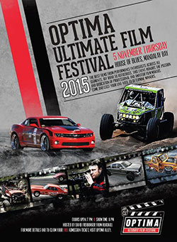 he 1st annual OPTIMA Ultimate Film Festival presented by K&N Air Filters will take place Thursday, November 5, 2015 during the annual SEMA trade show week in Las Vegas, Nevada