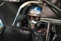 Phil Burkart prepares for race