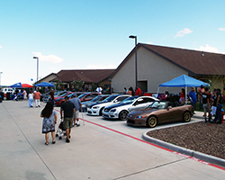 Projekt Cars, along with local car clubs Team Evince, Team Defiance, and Team Legacy treated the staff and residents of St Giles Nursing & Rehab to over 40 custom vehicles on display