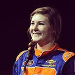 Story Author Hannah Newhouse and NASCAR K&N Pro Series West competitor