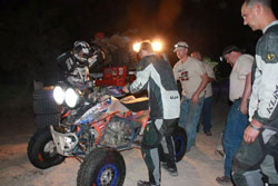 The team makes one final inspection before Brown brings it home for the Class 24 win and the overall 2011 ATV Championship.