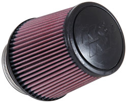 The K&N RE-0850 is a clamp-on, washable, and reusable air filter that features an ultra-strong molded pliable rubber flange that absorbs vibration and ensures a secure attachment.