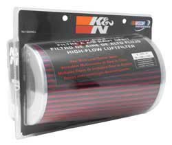 K&N universal chrome top air filter RG-1002RD-L with 3, 3.5 or 4 inch flange