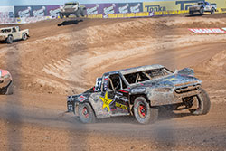 RJ Anderson in his Pro2 truck on the track in Elsinore
