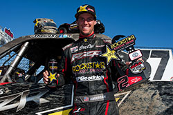 RJ Anderson on the podium in Lake Elsinore