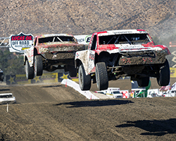 After the first lap of Pro-2 racing RJ Anderson came through in third in LOORRS Round 5