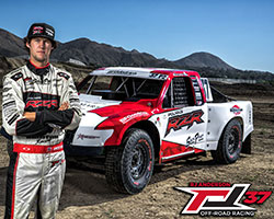 The 2015 #37 Pro2 & Pro-Lite trucks are adorned with a fresh red & white graphics scheme