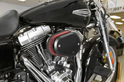 K&N intake system installed on 2006 Harley-Davidson Road King