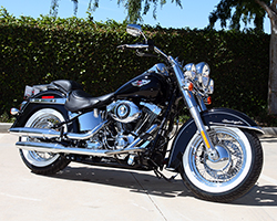 The Harley-Davidson Softail family of motorcycles pays tribute to early hard tail Harley-Davidson motorcycles