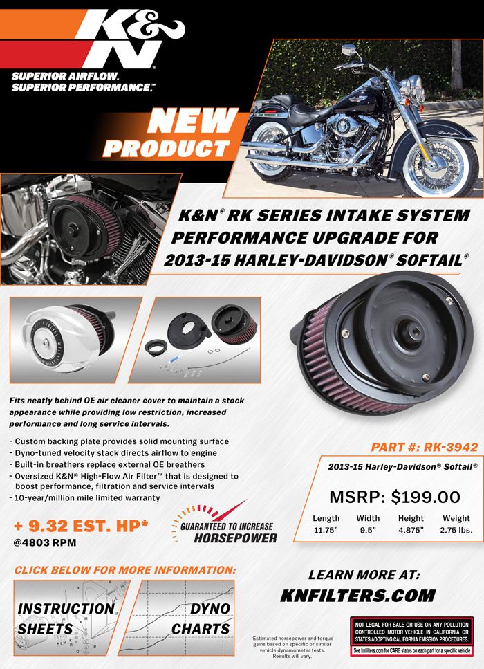 Sell Sheet for K&N RK-3490