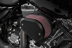 K&N RK-3947XB Air Intake System installed on a Harley Davidson motorcycle